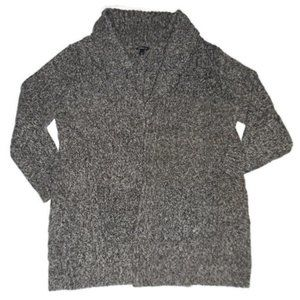 Torrid Gray Shawl Collar Cardigan Open Front Cable